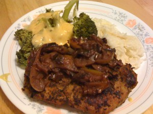 Pork Chops With Apples in Port Wine Reduction Sauce Recipe